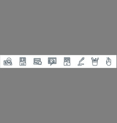 graphic design line icons linear set quality line vector image