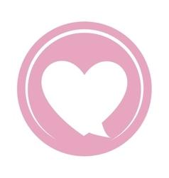 Heart love decoration icon vector