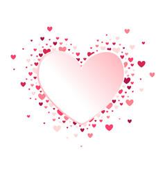 heart shape pink hearts vector image