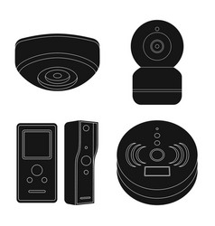 isolated object of cctv and camera icon vector image