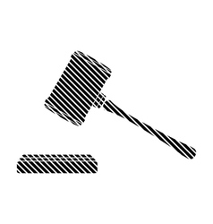 Judge gavel sign vector image