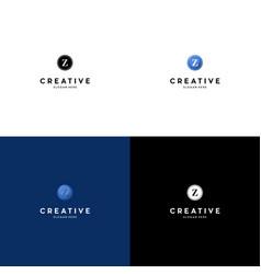 letter z creative logo design vector image