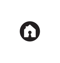 Lock home and security logo design template vector