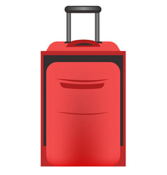 luggage trolley bag with pull handle in red color vector image