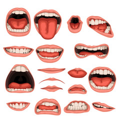 Male mouth set vector
