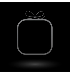 Minimalistic frame gift background vector image vector image