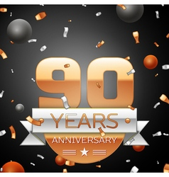 Ninety years anniversary celebration background vector