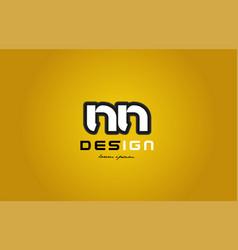 nn n n alphabet letter combination digit white on vector image