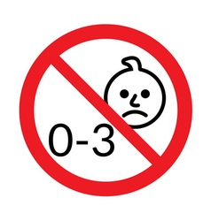 Not for children under 3 years age icon vector