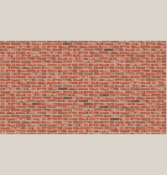old red brick wall seamless grunge background vector image