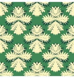 Pattern with damask motifs vector