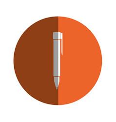Pen office supply icon vector