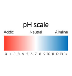 Ph scale indicator ph value expressing rate of vector