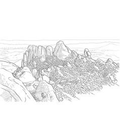 Picture of mount montserrat vector