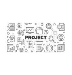 Project concept or banner in vector