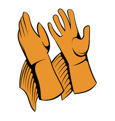 rancher gloves icon icon cartoon vector image
