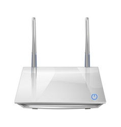 realistic 3d wireless router isolated on white vector image