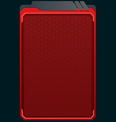 red futuristic background vector image