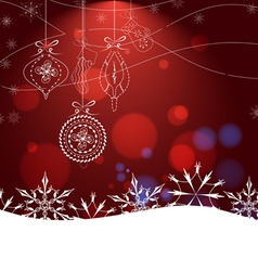Red Glamorous Christmas Background With Christmas vector