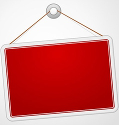 Red Sign Board vector image vector image