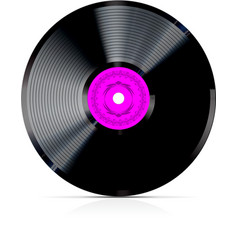 Retro vinyl record vector vector