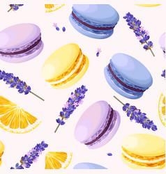 seamless pastel macarons vector image