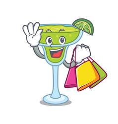 shopping margarita character cartoon style vector image