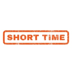 Short Time Rubber Stamp vector