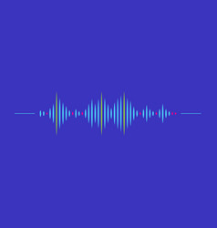 sound wave rhythm symbol with minimalistic style vector image
