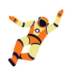 spaceman or astronaut in pressure suit isolated vector image