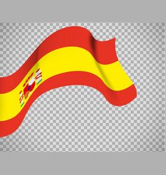 spain flag on transparent background vector image