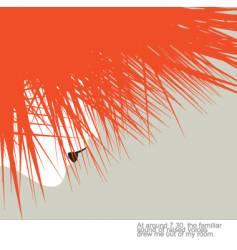 spiky hair style vector image