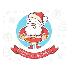 Standing full length santa claus with red vector