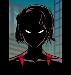 superheroine portrait in city vector image