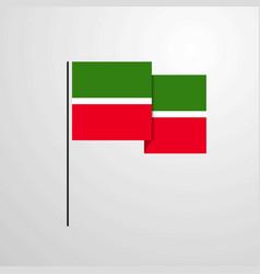 Tatarstan waving flag design background vector