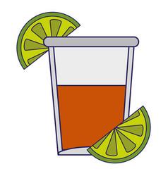 Tequila shot cup symbol vector