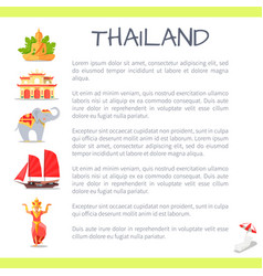 Thailand touristic concept with sample text vector