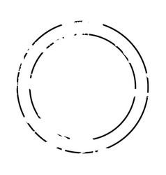 thin circle frame vector image