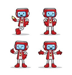 Ticket Machine Robot vector image