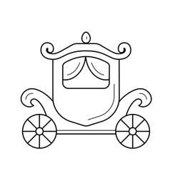 vintage carriage line icon vector image