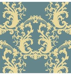 Vintage Floral Baroque ornament pattern vector