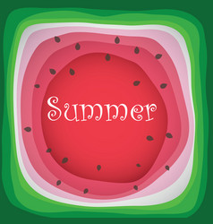 watermelon slice background with seed and skin vector image