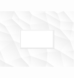 white abstract polygon background vector image