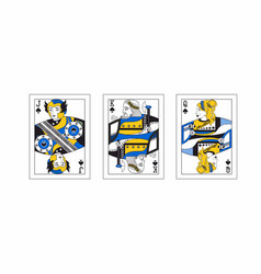 With the greek playing cards vector
