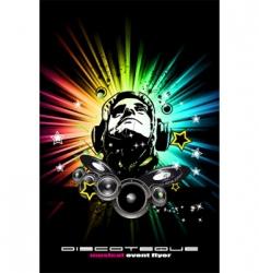 alternative discotheque Dj music flyer vector image vector image