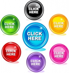 click here buttons vector image vector image
