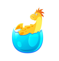 dragon hatched from egg vector image vector image