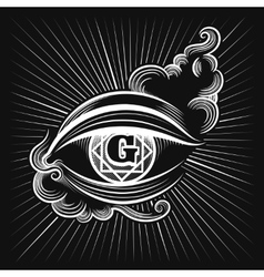 Egypt god eye icon vector image