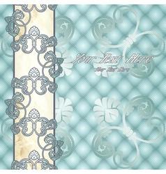 Elegant pale blue Rococo background vector image vector image