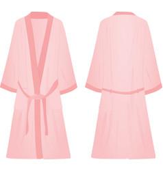 pink bathrobe vector image vector image